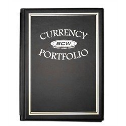 BCW Currency Portfolio Album for USA and World Paper Money