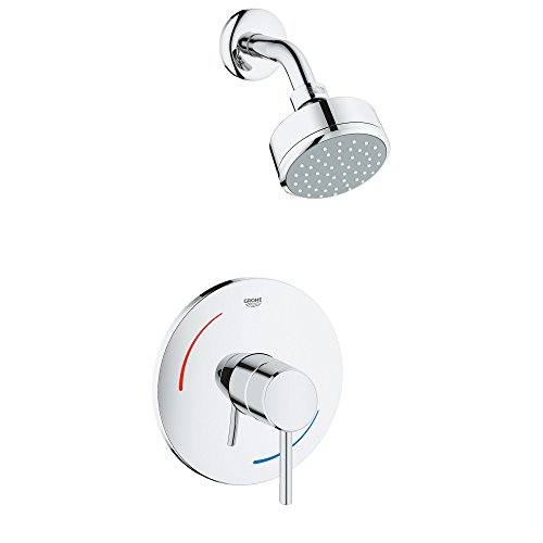 - Grohe 35075001 Concetto 1-Handle 1-Spray Tub and Shower Faucet in StarLight Chrome,