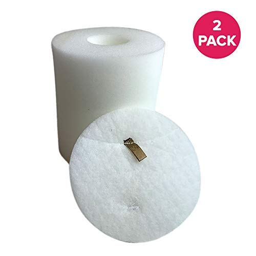 Crucial Vacuum Foam & Felt Filter Replacement Part # XFF500 - Compatible With Shark Rotator Models NV500 NV500CO NV501 NV502 NV503 NV505 NV510 NV520 NV552 NV753 UV560 NV642 - (2 Pack)