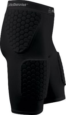 McDavid New Other YM Hexpad Thudd Short with Thigh Pads Football Girdle Black