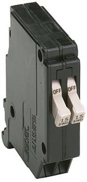 """120 Vac 15 Amps 606122 Ch Series Single-Pole Twin Breaker EATON CHT1515 3//4/"""""""