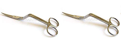 - Mazbot 6 Inch Bent Handle Curved Embroidery Scissors-Perfect for Machine Embroidery (2-(Pack))