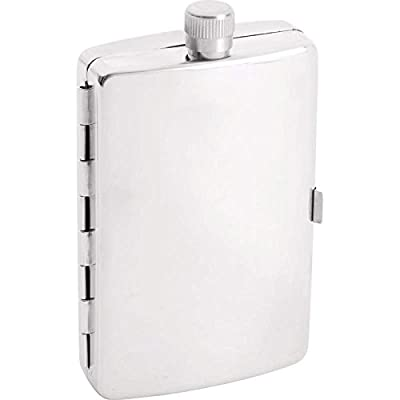 Maxam 2.5oz Stainless Steel Flask with Cigarette Holder