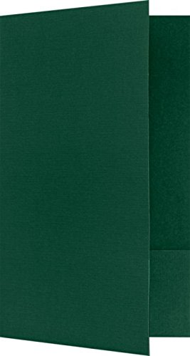 "Legal Size Folders - Standard Two Pockets - Green Linen - Pack of 25 | Perfect for Holding Legal Size 8 1/2"" x 14"" Paper and documents 