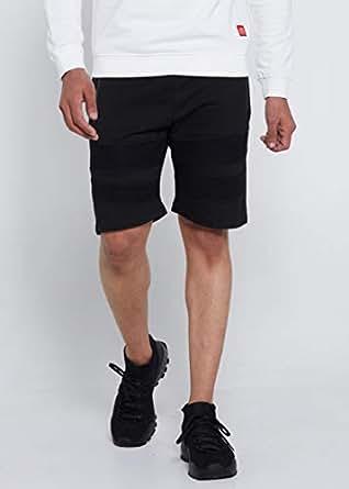 Lynk Slim fit Biker design Strechable Shorts Black