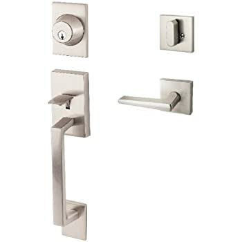 Sure Loc Hardware KN507/BS 15 Koln Door Handleset With Basel Lever