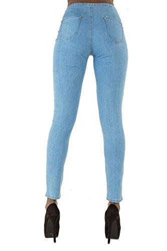 LustyChic - Vaqueros - skinny - para mujer azul claro