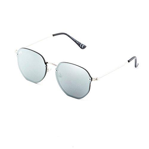 sol Gafas mujer PERET espejo Plata de TWIG degradadas Plata hombre fn5qUT5r0