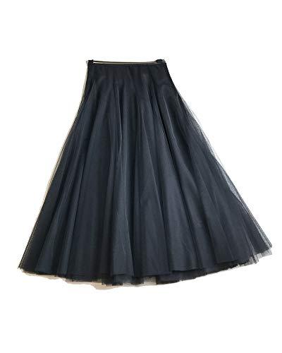 Jupes Femme Longue Haute Taille Casual Pliss Maxi Jupe de Plage Noir