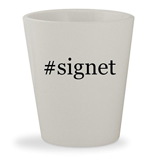 Price comparison product image #signet - White Hashtag Ceramic 1.5oz Shot Glass