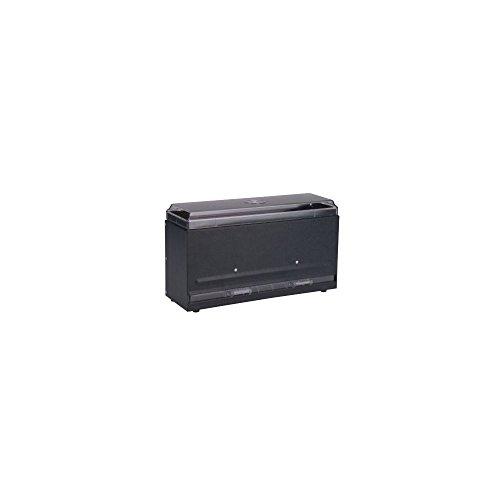 Traex 3821-06 Black Super Straw Boss 1-Sided Bulk Straw Dispenser by Vollrath