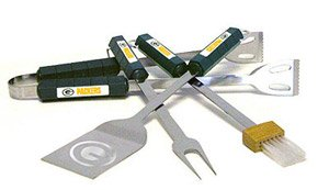 NFL Green Bay Packers 4-Piece Barbecue Set Green Bay Packers Barbeque Grill