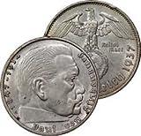 Germany Third Reich 1937-A Two Reichsmark -- Nazi WW II Silver