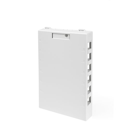 - Leviton 41089-12W QuickPort Surface Mount Housing, 12-Port, White