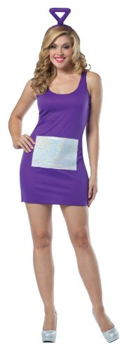 Rasta Imposta Teletubbies Tinky Winky Tank Dress, Purple, Adult 4-10