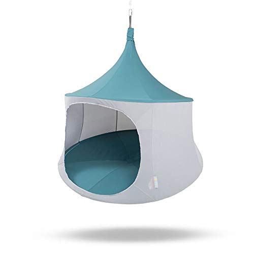 Cabana Outdoor Furniture - TreePod Cabana 6-Foot Tree Hanging Swinging Suspending Mesh Daybed, Slate Blue