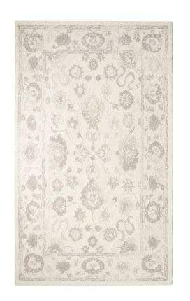 Dynamic Rugs AV91288800106 Avalon Collection Area Rug, 8' x 11', Ivory/Silver