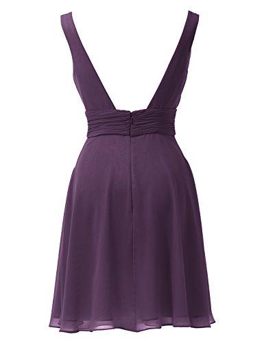 Dress Evening V Sexy Grape Sleeveless Bridesmaid Neck Alicepub Prom Short Dresses Gown 1Zgx88