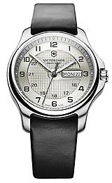 Date Stainless Steel Knife (Victorinox Swiss Army Officer's Day/Date with Pocket Knife Men's watch #241550.2)