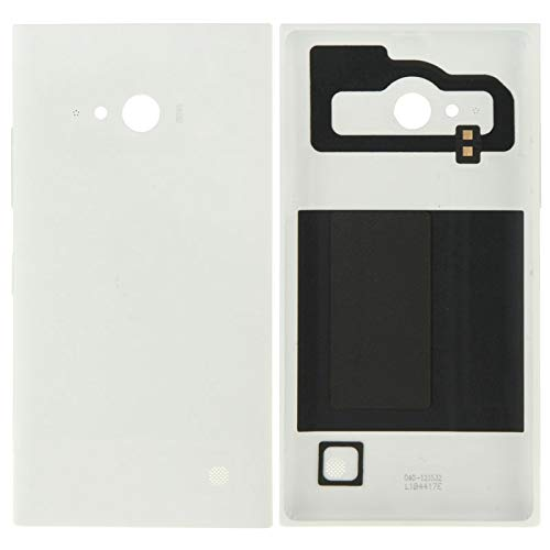CellPhoneParts.com Professional Mobilephone Repair Accessories Solid Color Plastic Battery Back Cover for Nokia Lumia 730(Black) Original OEM Rair Parts (Color : White) (Lumia 730 Best Price)