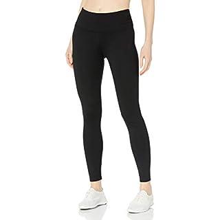 Calvin Klein Women's Premium Performance Double Waistband Moisture Wicking Legging (Standard and Plus), Black, 2X