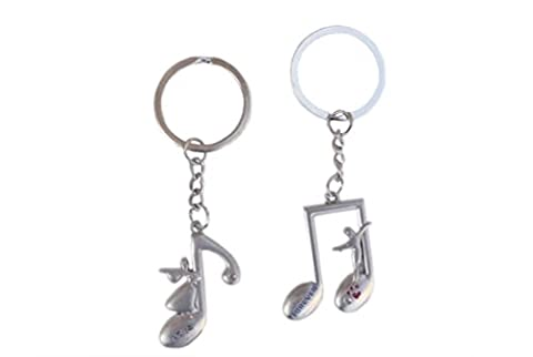 Best Silver Music Themed Couples Key Chain Fun Inexpensive Unique Popular Top Anniversary Married Couples Sweethearts Girlfriend Boyfriend Husband Wife (Family Devotional Videos)