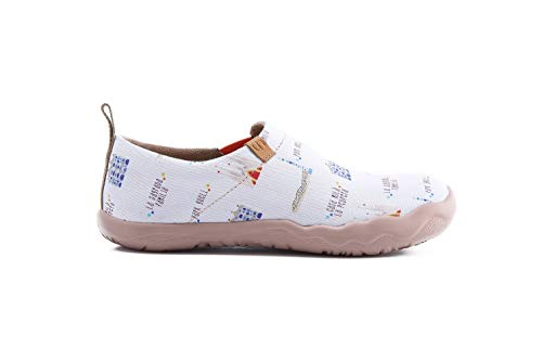 City Canvas Art White Shoe Loafer Painted Women's Uin gPRqwx7Oq