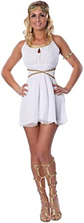Delicious Grecian Goddess Costume, White, X-Small