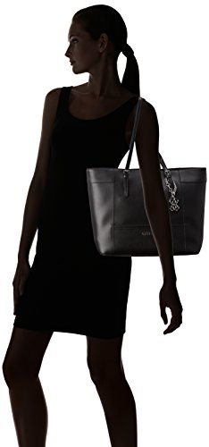 8855c71504f Guess Women s Delaney Medium Tote Bag, Black - Import It All