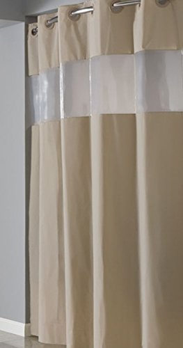 Amazon.com: Hookless RBH14HH06 PEVA Shower Curtain - Brownstone ...