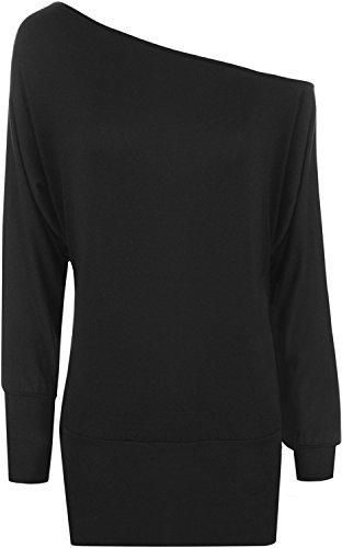 WearAll Women's Off-Shoulder Batwing Top - Black - US 14-16 (UK 18-20)]()