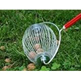 Nut Broom Easy to roll nut gatherer - Collect Windfall Nuts Without Bending
