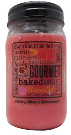 Swan Creek Candle Pantry Jar, 24 Ounce, Cherry Almond Buttercream