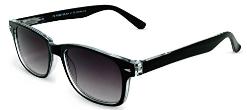 In Style Eyes Rescue Me, Classic Wayfarer Full Reader Sunglasses. Not BiFocals /Black/1.00 Strength