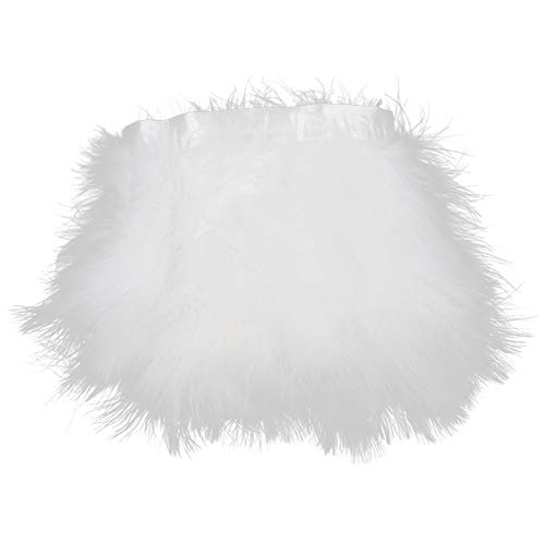 Trim Marabou White - Turkey Marabou Hackle Fluffy Feather Fringe Trim Craft 6-8
