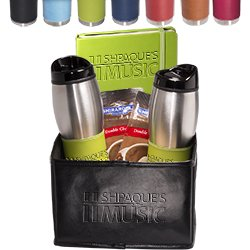 (Tuscany Tumblers & Journal, Ghirardelli Cocoa Set 6 QUANTITY- $46.83 EACH /PROMOTIONAL PRODUCT / BULK / BRANDED with YOUR LOGO / CUSTOMIZED)