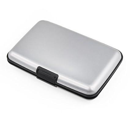 Aluma Aluminium Silver Wallet Credit Card Holder RFID Blocking
