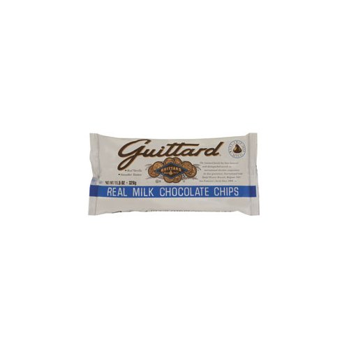 Guittard Milk Chocolate Maxi Chips (Economy Case Pack) 11.5 Oz Bag (Pack Of 12)