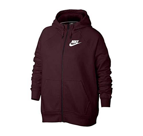 Nike Women's Plus Rally Sport Casual Hoodie (3X, Burgundy Crush) (Nike Snow Jacket)