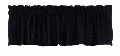Burlap Black Valance Window Treatments Unlined 100% Pure Cotton Fabric 72