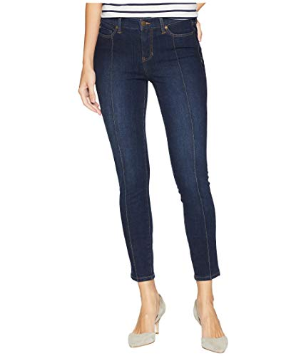Liverpool Womens Abby Ankle Pintuck with Shaping and Slimming Four-Way Stretch Denim in Corvus Dark