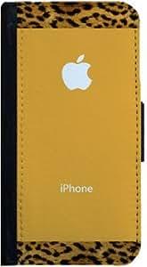 Leopard Pattern Design iPhone 5 Flip Case, iPhone 5s Flip Cover, Wallet Case, Book Style Cover, Pocket Case, Flap Cover, Bi-Fold Case, by Sublifascination 95