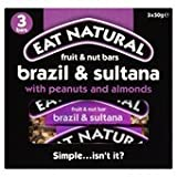 Eat Natural Brazil Sultana Almond Bars 3 X 50G