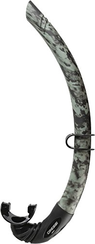 Cressi Corsica, Flexible Rubber Snorkel for Scuba Diving, Freediving and Spearfishing - Solid and Camouflage colors | made in Italy