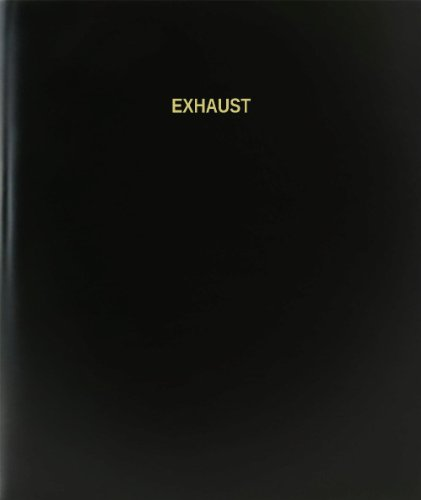 BookFactory® Exhaust Log Book / Journal / Logbook - 120 Page, 8.5