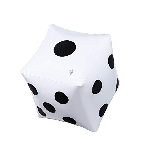 CCINEE 13.8 inch Giant Inflatable Dice Pool Toy for Lawn Games Outdoor Floor GamesPack of 1