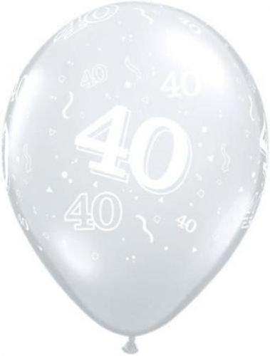 Amazon Age 40 40th Birthday Diamond Clear 11 Latex Balloons X