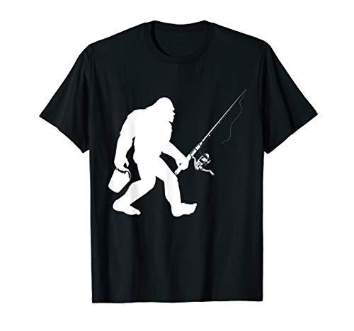 Bigfoot Fishing T Shirt Sasquatch Fishermen Gift