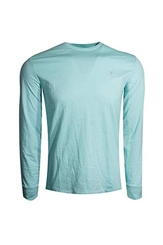 Polo Ralph Lauren Mens Long Sleeve Pony Logo T-Shirt (Seafoam Green/Lavender Pony, Large)