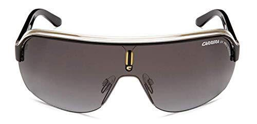 Carrera Topcar 1  Unisex Shield Sunglasses,Black Crystal Yellow Frame/Gray Gradient Lens,one size